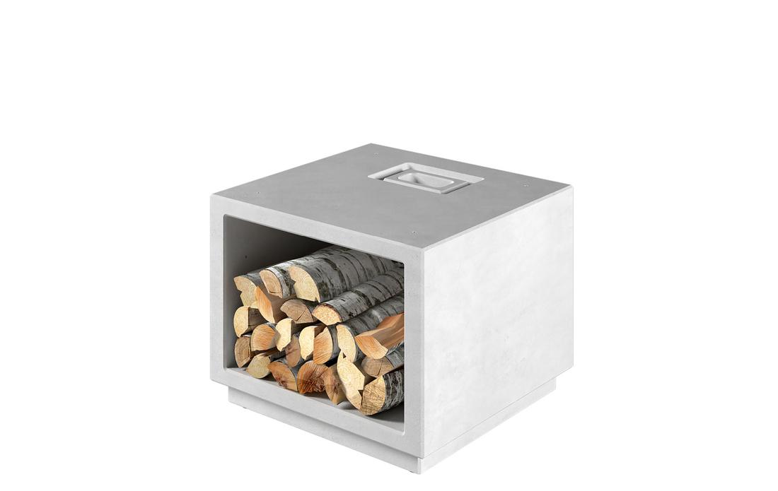Erhöhungsmodul oder Holzfach für das Modell Air  Aus ShapeStone Light-Beton hergestellt. Kann für eine hohe Variante unter dem Grundmodul angeordnet werden, oder auch neben dem Grundmodul als Beistellelement mit einer Deckplatte.…