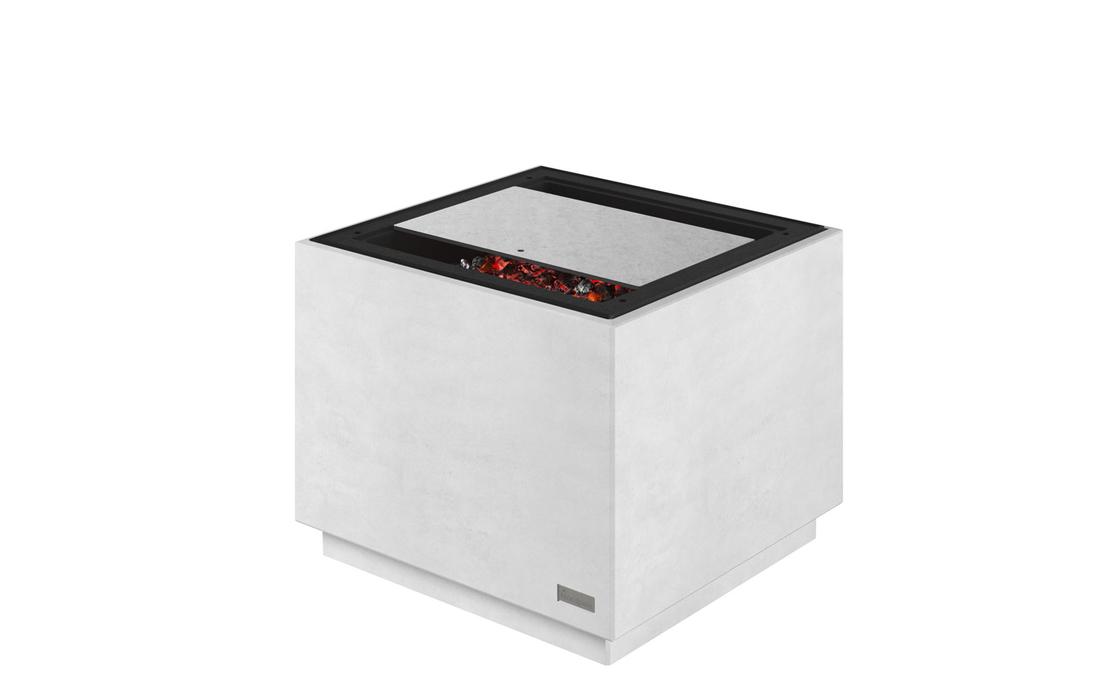 Air – Der smarte Gartenkamin     Ihr ausbaufähiger Gartenkamin  Air ist so viel mehr als nur eine Feuerschale. Durch seinen modularen Aufbau können Sie ihn in verschiedenster Weise erweitern. Mit Beistelltisch, Funkenschutz, Grillrost…